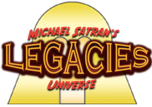 Logo for Michael Satran's Legacies Universe product line.